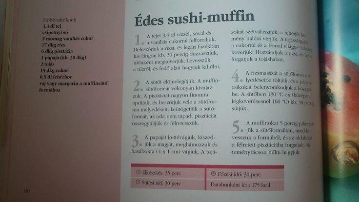 Édes sushi-muffin