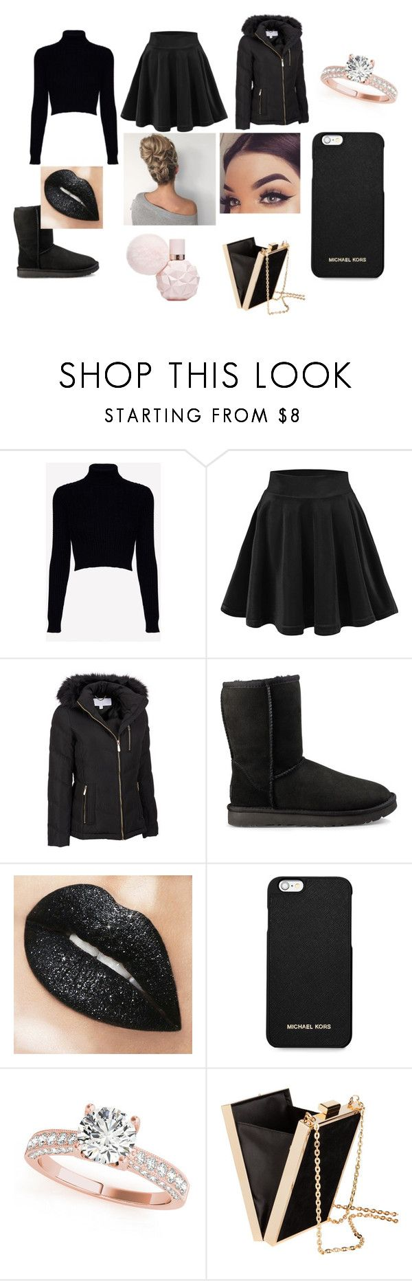 """""""Cold Glam"""" by dylann-samuels ❤ liked on Polyvore featuring Jack Wills, Wilsons Leather, UGG, MICHAEL Michael Kors and plus size clothing"""
