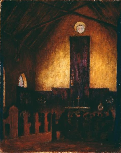 """Russell DRYSDALE  """"Evensong, Hill End"""" (1948)  NGV Melbourne"""