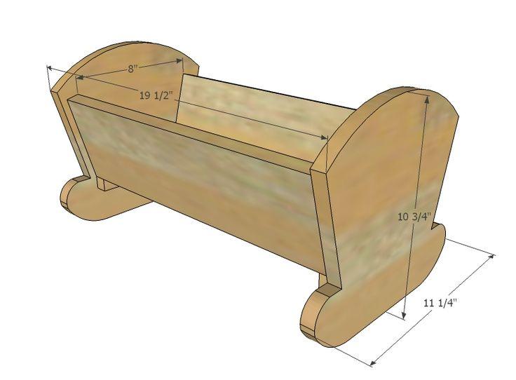 Ana Blanco | Construir una cuna de la muñeca de la vendimia | Proyecto de bricolaje libre y fácil y Planes de muebles