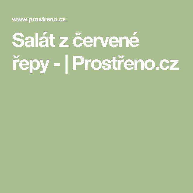 Salát z červené řepy - | Prostřeno.cz