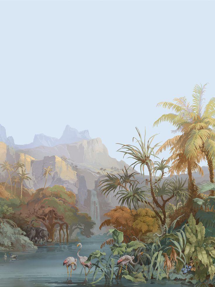 En version panoramique, le papier peint prend une autre dimension, comme une oeuvre d'art qui cache un savoir faire unique.