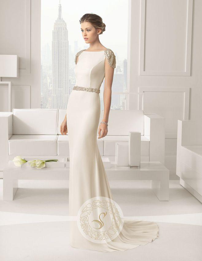 Rochie de Mireasa Clasica cu Detalii Elegante pe Umeri ❤️ Elegant Details on Shoulders -Wedding Dress