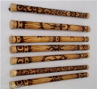 """32""""80cm Authentic Bamboo Rain Stick Shaker Traditional Roasted ..."""