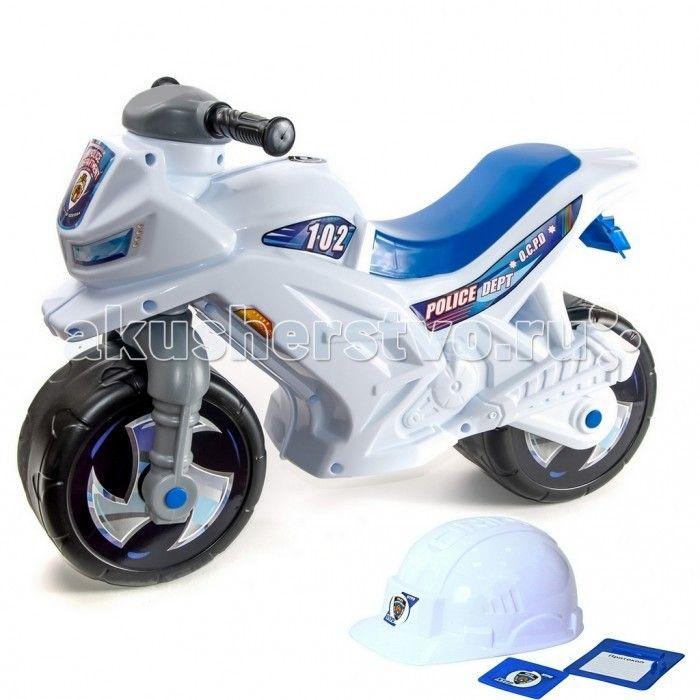 Каталка R-Toys Racer RZ 1 Полиция  Каталка R-Toys Racer RZ 1 Полиция на 2 широких устойчивых колесах со шлемом, жетоном и протоколом.   Особенности: Самое главное в этом беговеле- эргономика форм и размеров. Беговел идеально подойдет детям от 18 месяцев. Они будут пользоваться ею и получать удовольствие от удобства.  Если малыш никогда не катался на подобном транспорте, каталку Racer RZ 1 он освоит очень быстро. Он почувствует как удобно и легко управлять этим беговелом, оценит устойчивость…
