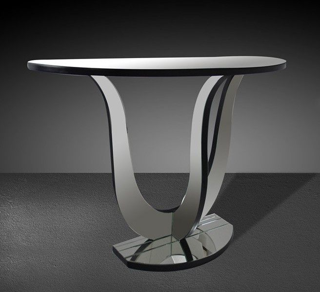 VIG Furniture Modrest Carlise   Modern Mirrored Console Table VGMC GC 1030    VIG
