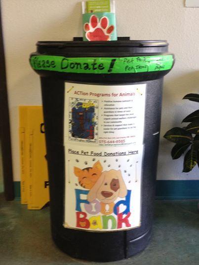 Pet Food Bank Donation Bin For Apa Animal Shelter Donations Animal Shelter Animal
