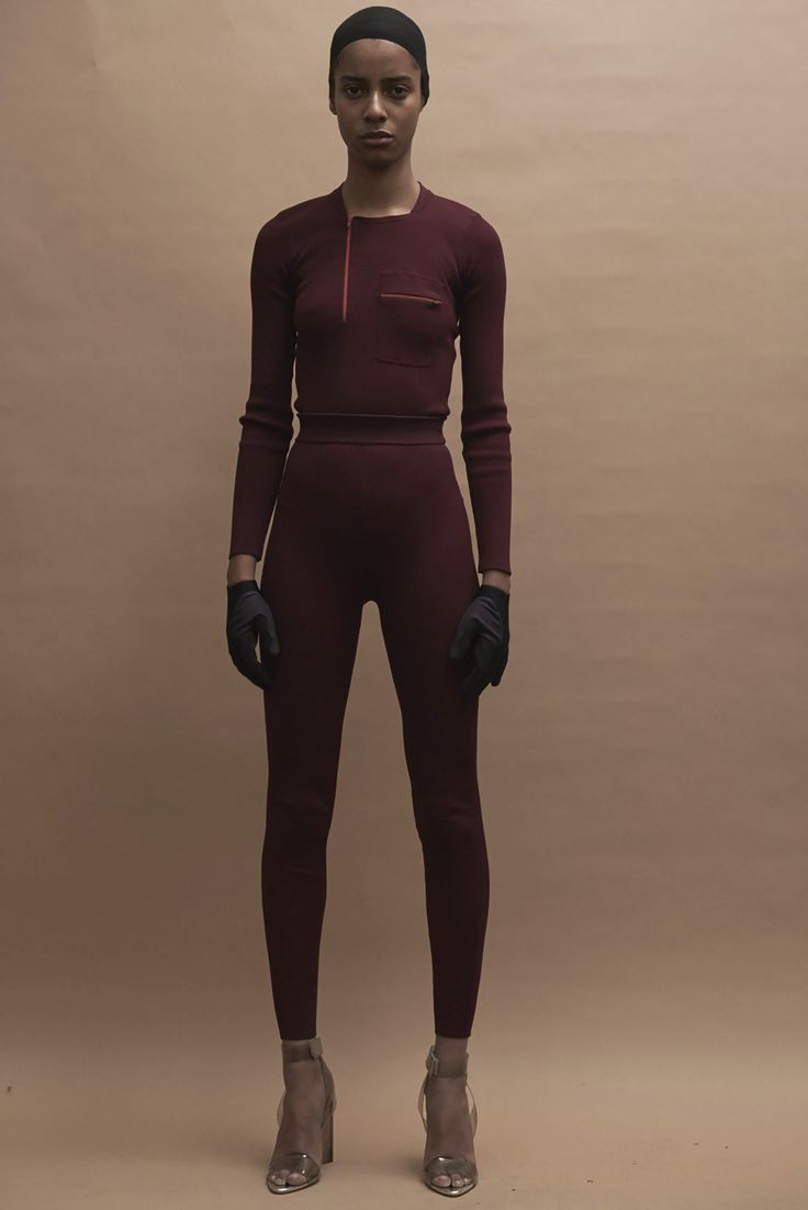 Yeezy Season 3 Proves the Clothes Don't Matter Anymore and That's a Problem #kanyewest #yeezy #nyfw #newyorkfashionweek #fashion #burgundy #colourblock
