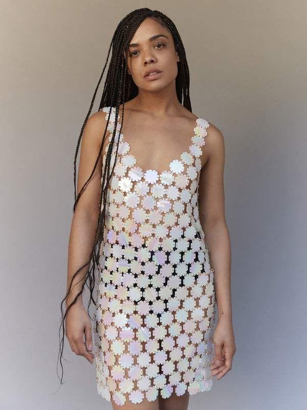 25b2c4b90be Tessa Thompson models the season's statement pieces in #PorterEdit ...