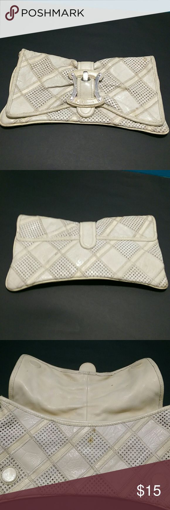 Selling this B Makowsky Leather Clutch on Poshmark! My username is: ednaryan. #shopmycloset #poshmark #fashion #shopping #style #forsale #B Makowsky #Handbags
