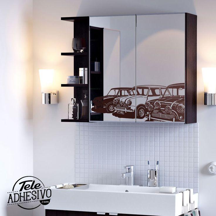 Decoración espejo baño Ikea #wc #decoracion #vinilo #espejo #baño #mini #TeleAdhesivo