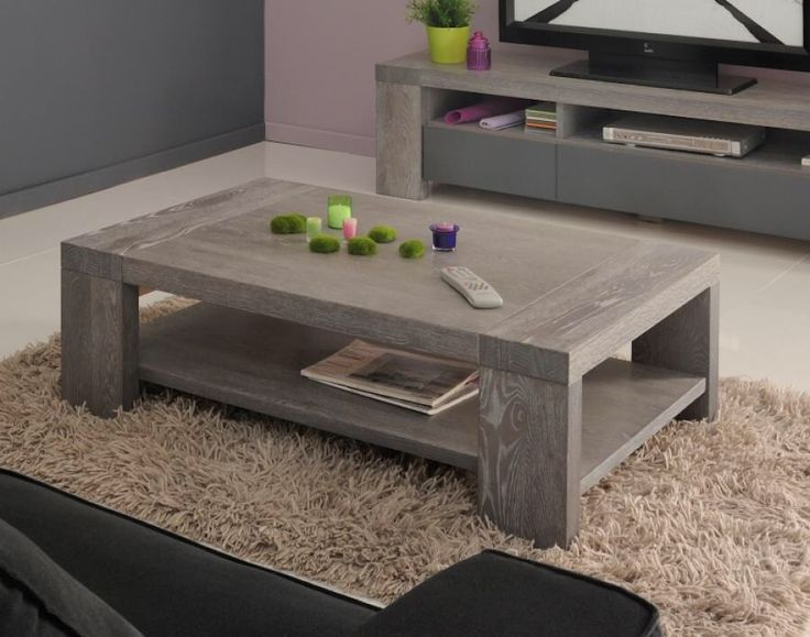 grey wood rustic distressed coffee table for cozy living room