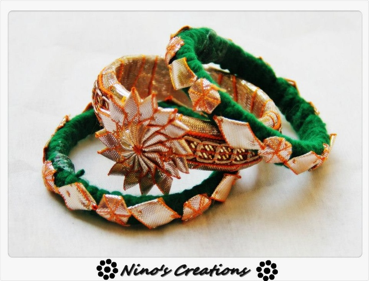 Handmade bangles by  http://www.facebook.com/pages/Ninos-creations/123853704344831?sk=photos_albums