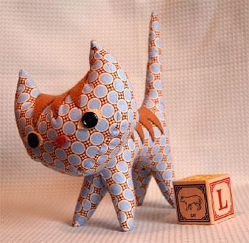 #FreeSewingPattern - Purple Stitch Project Pointy Kitty Pattern by Indie Designer Hillary Lang as part of the Purple Stitch Project - click the image to learn more and get the free instant download of the pattern