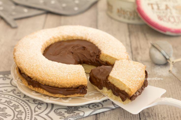 Torta+occhio+di+bue+alla+Nutella