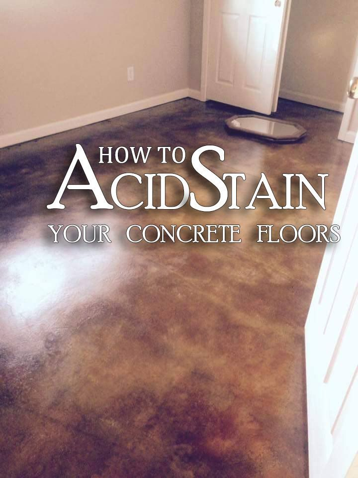 howto acid staining concrete floors