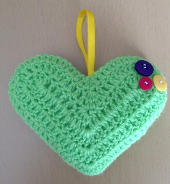 Cute stuffed heart with buttons