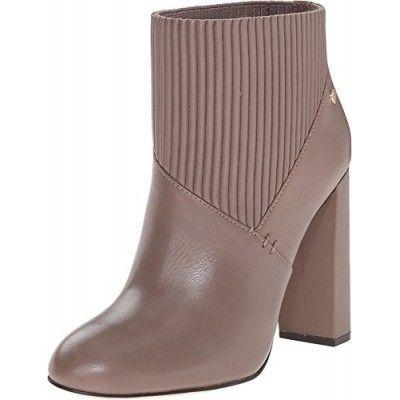 Calvin Klein Women's Klara Winter Taupe Leather Boot 10 M