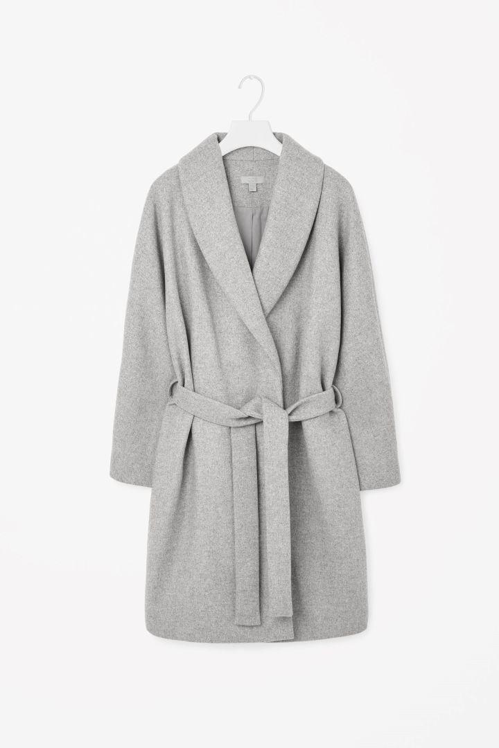 Shawl-collared coat