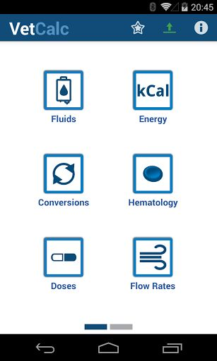 Designed for veterinarians (vets) as well as veterinary students, nurses and technicians. Vet Calculator provides a quick and easy way to do many calculations performed in veterinary practice.<p><p><b>Upgrade to Vet Calculator Plus for 20+ calculators and many more features including an CRI (with 32 drugs), emergency drug calculator (with 16 drugs), 10 & 15 drop/ml giving sets and customizable calculators.</b></p><p><p><b>Compare features here: <a…