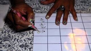Nova Stamping Nails - YouTube Clever way to make lot of decals