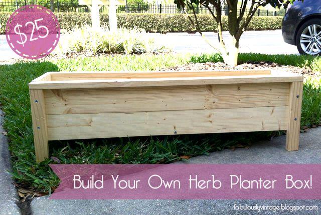 DIY Herb Planter Box -- $25