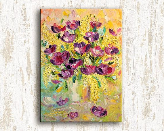 Bright glare of flowers  Original Oil Painting on canvas