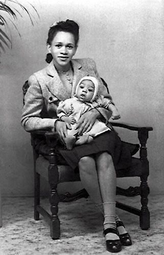 You mean Jimi wasn`t born with a guitar in his hands ??? Early 1940s: Baby Jimi Hendrix
