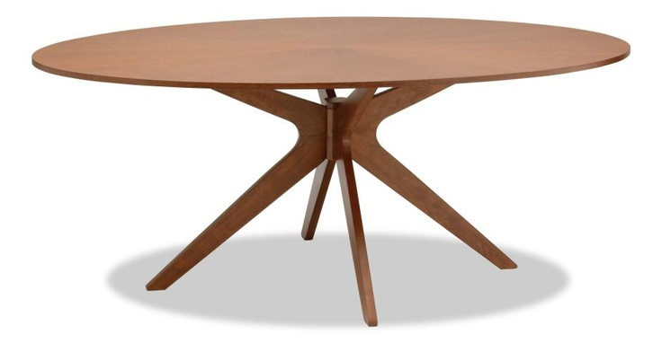 $428 Conan Oval Dining Table - Wood Tables - FillTheContainer - Furniture, Home Decor, Dining, Living & Bed Rooms