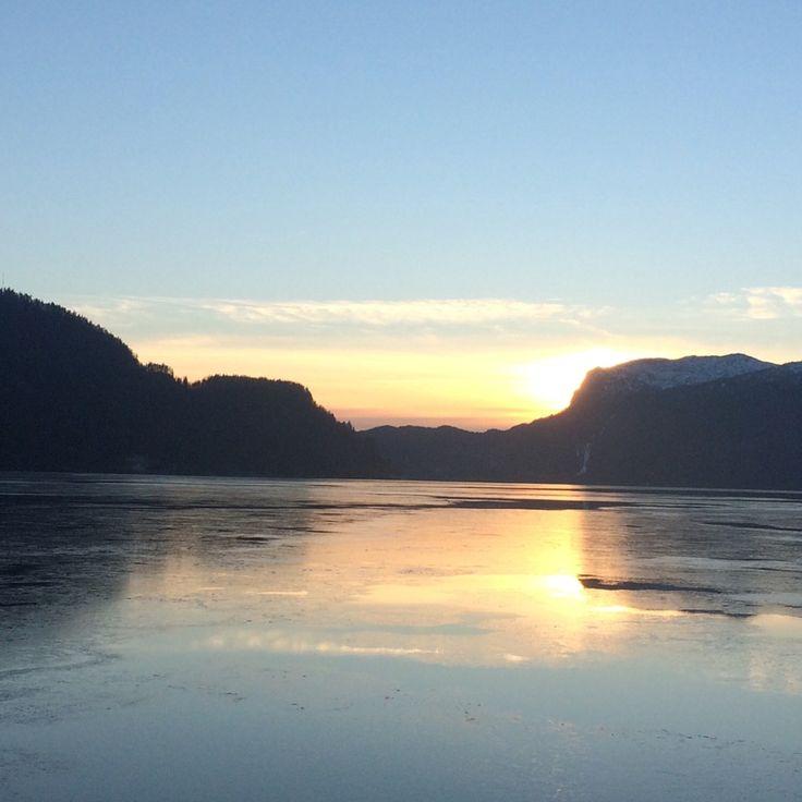 Sunset over Saudafjorden by Kaia Huus - Photo 152421729 - 500px