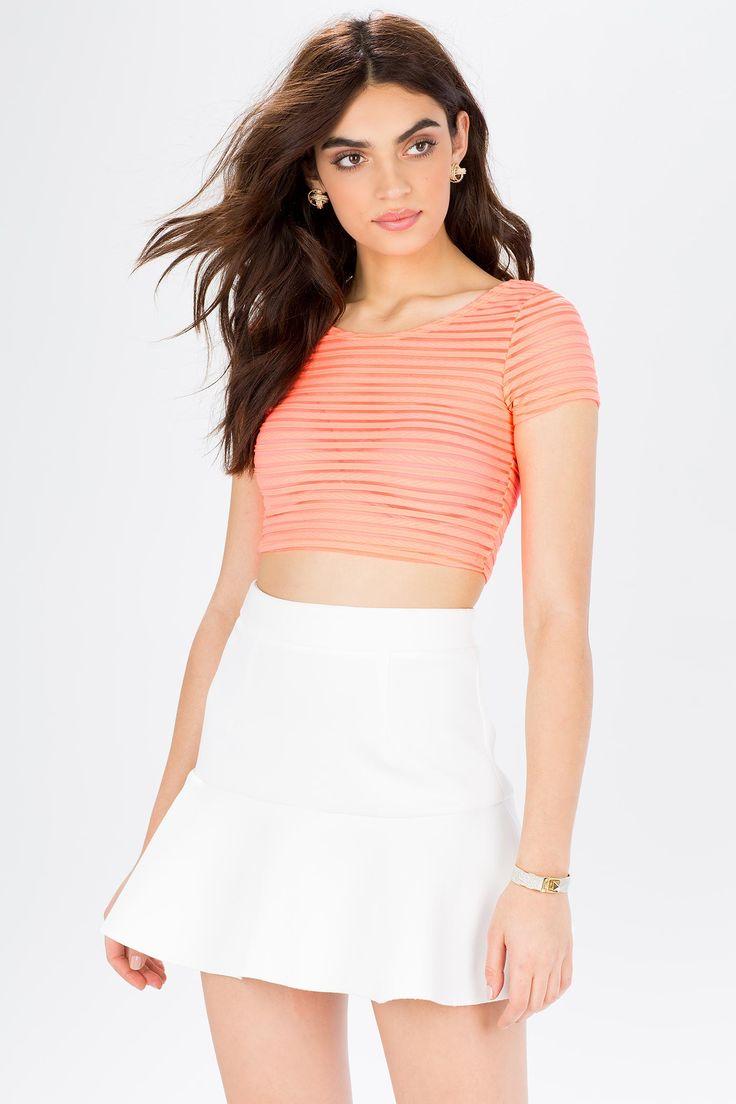 Топ Размеры: S, L Цвет: неоновый коралловый Цена: 394 руб.     #одежда #женщинам #топы #коопт
