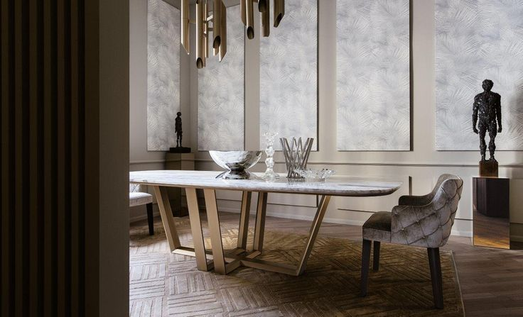 BRIDGE dining table by Marco Boga for Casamilano home collection. Dining table in two different sizes, top in wood or marble. Visit www.casamilanohome.com for more #casamilano #homecollection #newcollection #bridge #diningtable #milan #casamilanohome #marcoboga
