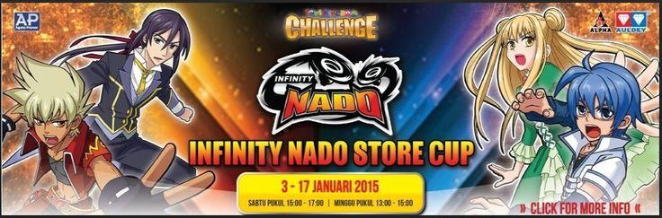 Infinity Nado Store Cup di Toys Kingdom, 3-17 Januari 2015