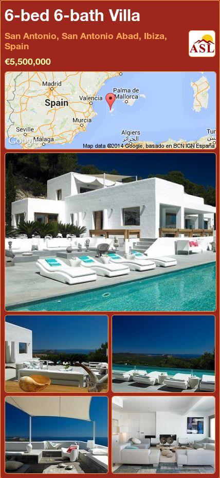 6-bed 6-bath Villa in San Antonio, San Antonio Abad, Ibiza, Spain ►€5,500,000 #PropertyForSaleInSpain
