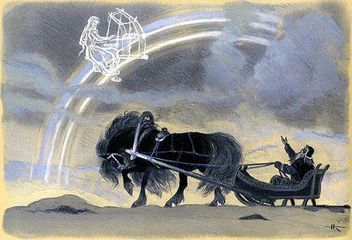 Kalevala illustrations by Nicolai Kochergin