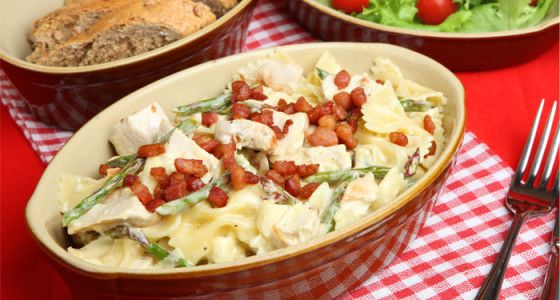 Farfalle Pasta with Asparagus and Pancetta #recipe  - full of fresh and lively flavour thanks to the lemon juice and parmesan