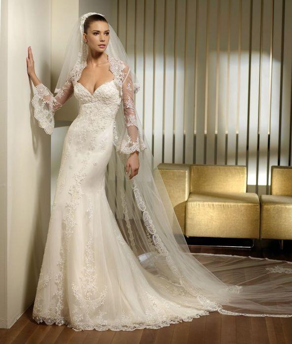 san patrick prado koronkowa suknia ślubna