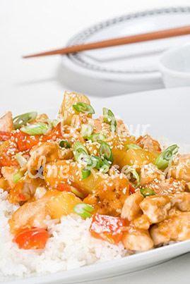 Photo de la recette du jour : Poulet sauce aigre douce