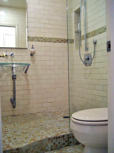Tiny Full Bath W Sink Inside Shower Great Space Saver