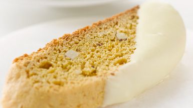 Giada De Laurentiis - White Chocolate-Dipped Almond and Lemon Biscotti
