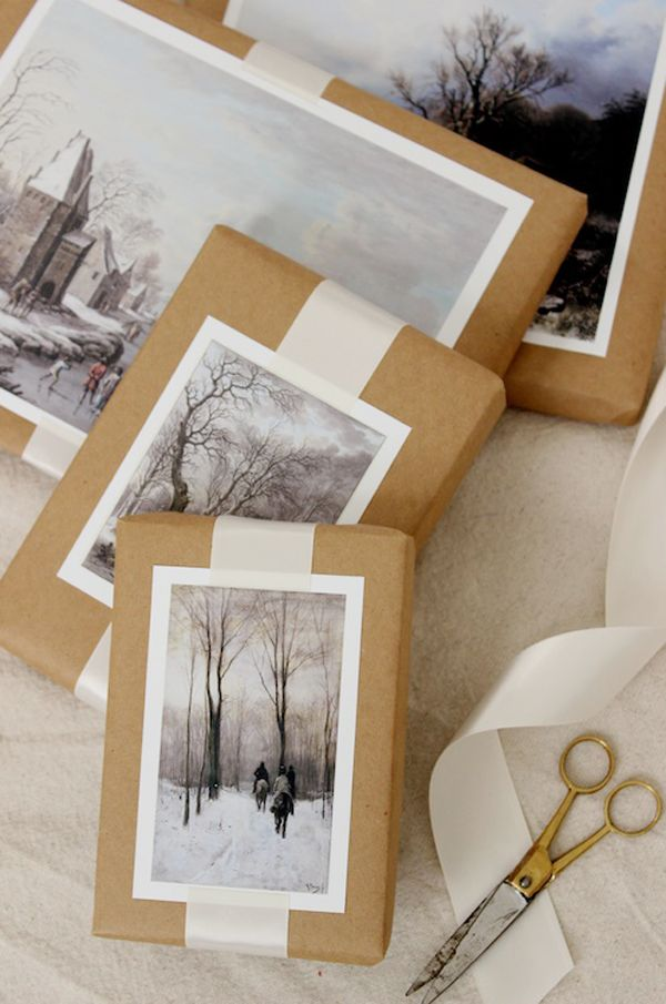 DIY Weihnachts Idee: Geschenke verpacken mit Postkarten und Fotos / diy christmas idea: gift packing with postcards and photos