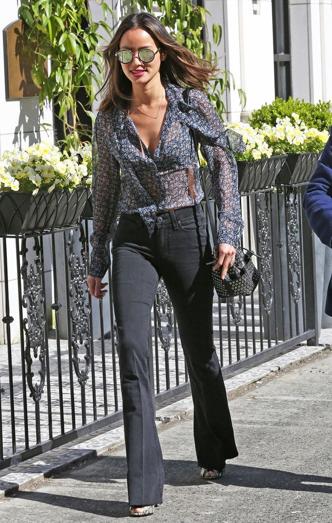 Jamie Chung Serves Up Some Seventies-Chic Weekend Outfit Inspo | InStyle.com