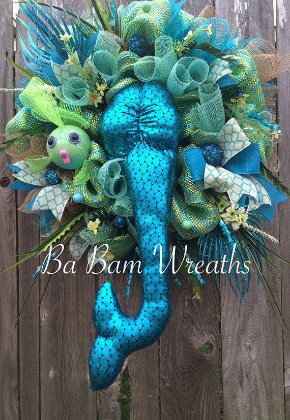 Mermaid Wreath Mermaid Decor Mermaid Party Mermaid