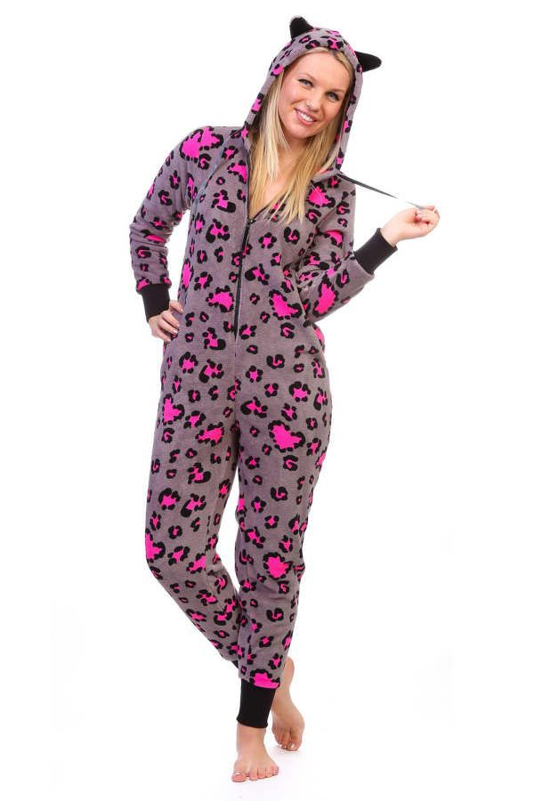 98fff10999 Best Women s Pajama Onesie  Totally Pink Women s Warm and Cozy Plush Adult  Onesie
