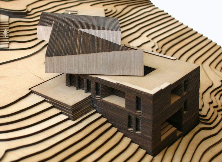 lasercut architecture contour model