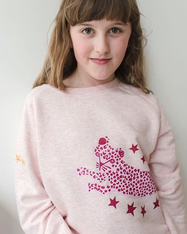 The excitement is literally mounting! Our collab with the delicious @cocoandindie_ launches at 9am tomorrow morning!!! . Excited is an understatement! #sasandyosh #cocoandindie #collaboration #kidsfashion #kids #leopardcrew #sweatshirt #coolkids #smallbusiness #shopsmall