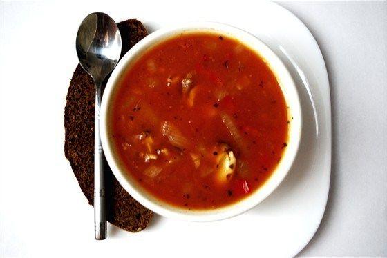 Томатный суп из морепродуктов рецепт с фото
