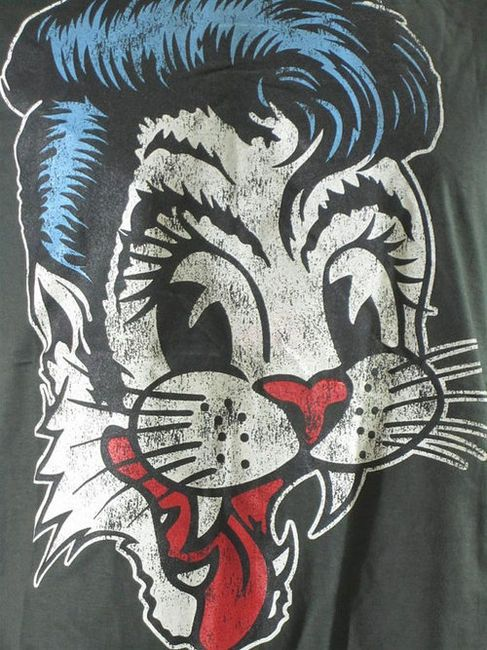 Stray Cats American Rockabilly Band Black TShirt