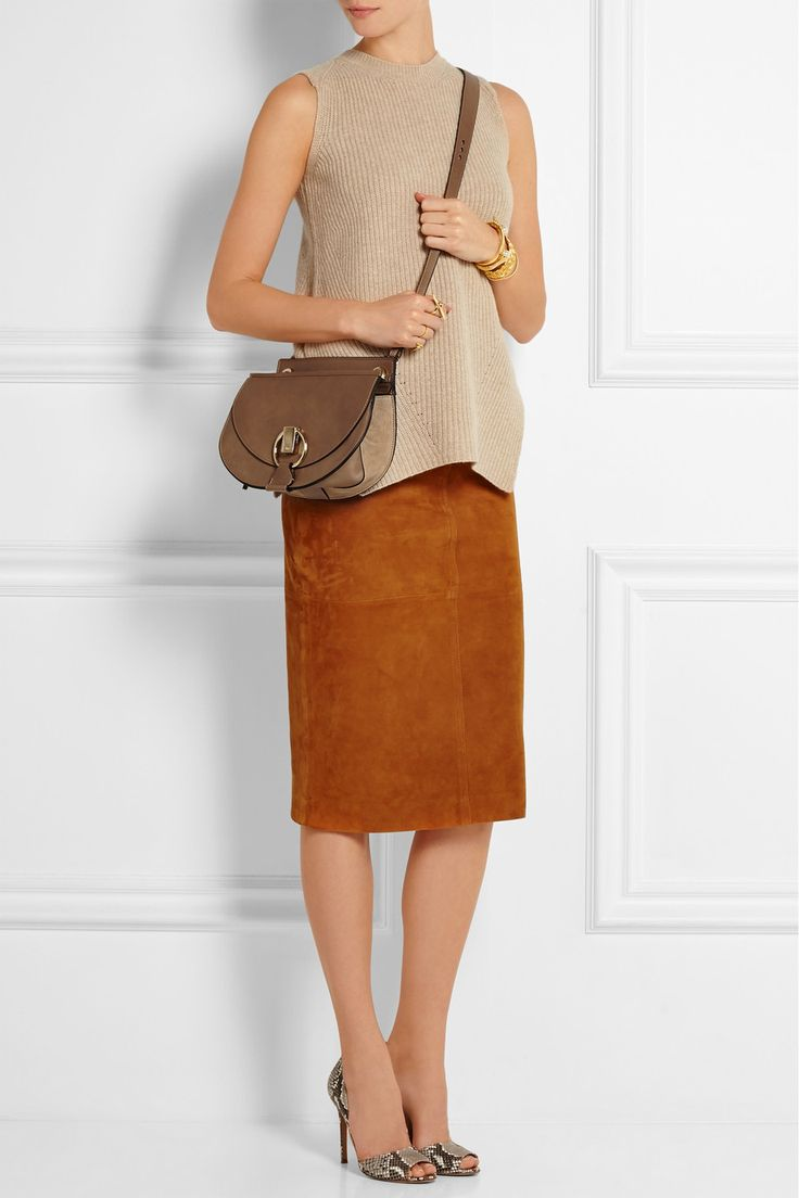 Gucci | Linea C mini textured-leather shoulder bag | NET-A-PORTER ...