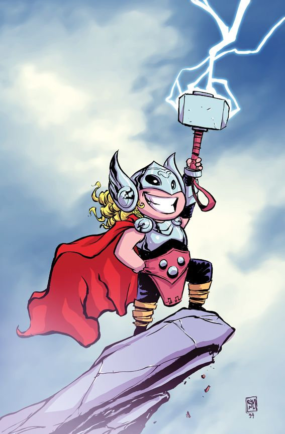 THOR #1 variant cover by SKOTTIE YOUNG  ... September 2014